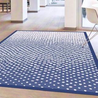 【范登伯格】夏蔓柔光絲質感地毯-漸層藍(140x200cm)