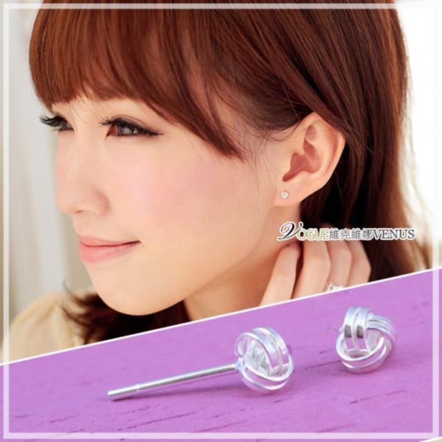 【維克維娜】青春時光。經典閃亮編織球造型925純銀耳環