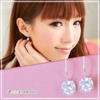 【維克維娜】甜美宣言。經典設計款大圓鑽925純銀耳環