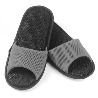 【AC Rabbit】開口型低均壓氣墊拖鞋馬卡龍色系(古典灰)