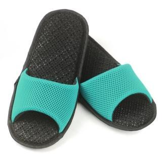【AC Rabbit】開口型低均壓氣墊拖鞋馬卡龍色系(湖水綠)