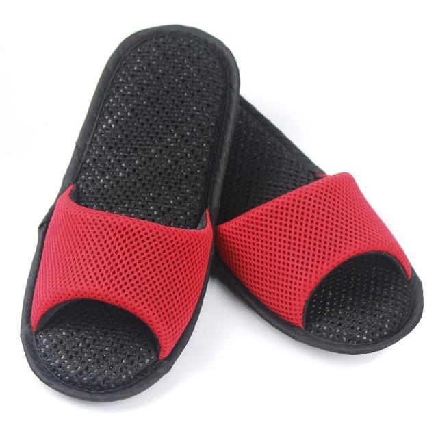 【AC Rabbit】開口型低均壓氣墊拖鞋馬卡龍色系(熱情紅)
