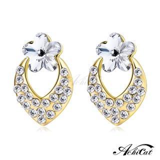 【STEVEN YANG】正白K飾「幸福小花」耳針式耳環 KG4062(金色A)