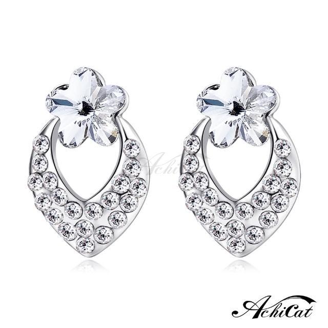 【STEVEN YANG】正白K飾「幸福小花」耳針式耳環 KG4062(銀色A)