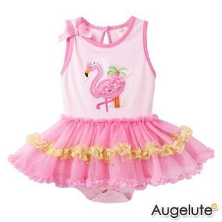 【baby童衣】包屁裙 粉天鵝女寶寶連身衣 42175
