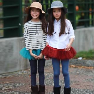 【baby童衣】兒童裙褲 假兩件層次網紗長褲 47057(共二色)
