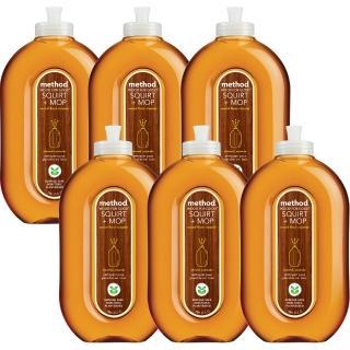 【Method 美則】木質地板保養清潔劑 739mlX6罐(加送時尚購物袋)