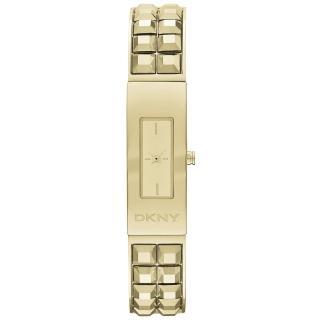【DKNY】前衛姿態錐形鉚釘時尚腕錶-金(NY2228)