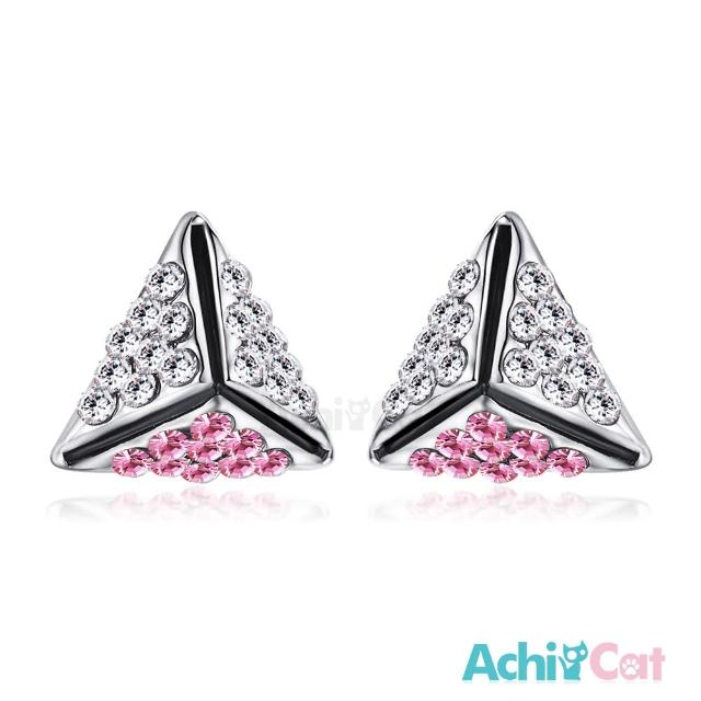 【STEVEN YANG】正白K飾「幸福時光」耳針式耳環 KG4078(粉水晶)