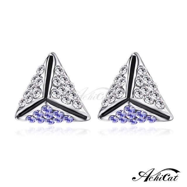 【STEVEN YANG】正白K飾「幸福時光」耳針式耳環 KG4078(紫水晶)