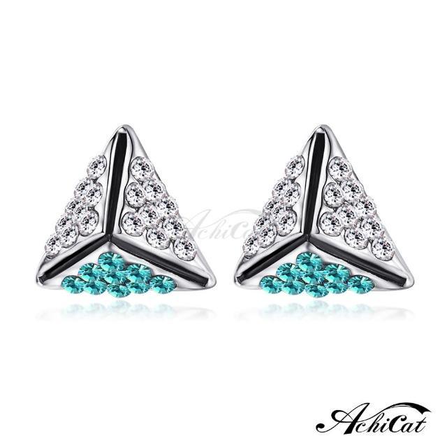 【STEVEN YANG】正白K飾「幸福時光」耳針式耳環 KG4078(藍綠水晶)