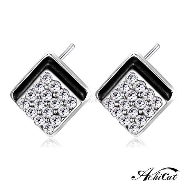 【STEVEN YANG】正白K飾「歡樂時光」耳針式耳環 KG4073(白水晶)