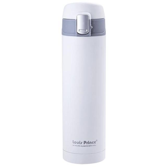 【路易王子】真空保溫彈蓋杯(320ML 白色)