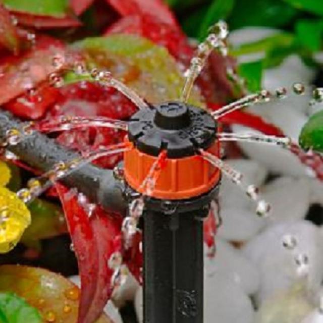 【灑水達人】澳洲Antelco穩壓八孔可調滴頭插針360度10個