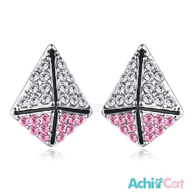 【STEVEN YANG】正白K飾「甜蜜防禦」耳針式耳環 KG4077(粉水晶)