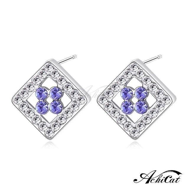 【STEVEN YANG】正白K飾「愜意時光」耳針式耳環 KG4081(紫水晶)