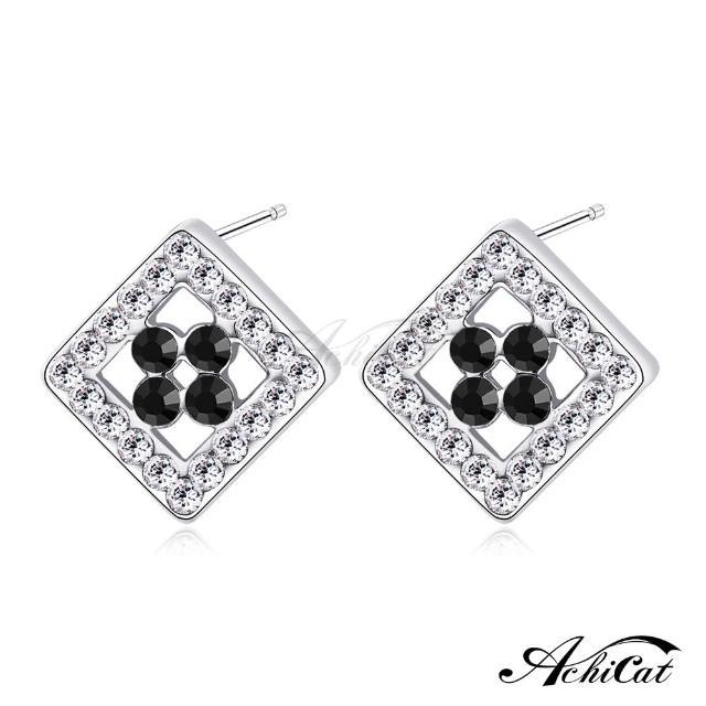 【STEVEN YANG】正白K飾「愜意時光」耳針式耳環 KG4081(黑水晶)