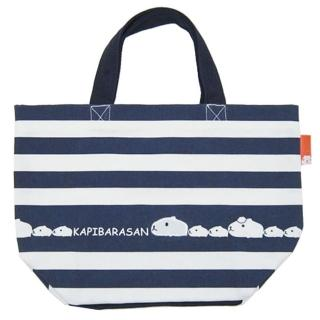 【kapibarasa】水豚君刷毛系列手提袋(深藍)