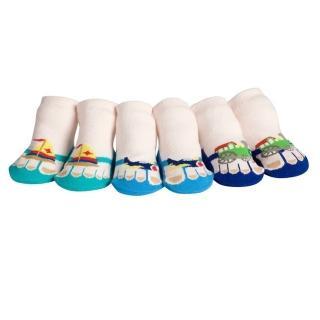 【美國 Jazzy Toes】時尚造型棉襪/止滑襪/假鞋襪_三入禮盒組_交通工具組(JT3-06)