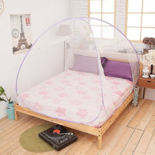 【Lust 生活寢具】《雙門立體.蒙古包蚊帳》最高160cm+雙開門『雙人』防蚊.驅蚊(多種顏色)