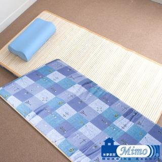 【米夢家居】台灣製造-外宿熱賣四季通用-熱烘棉單人床墊+記憶枕(二件一組)