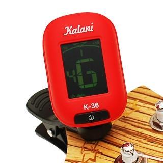 【拓弦音樂】Kalani 烏克麗麗/吉他 5合1雙色冷光調音器/紅色+加贈3PICK(K36-紅+3P)