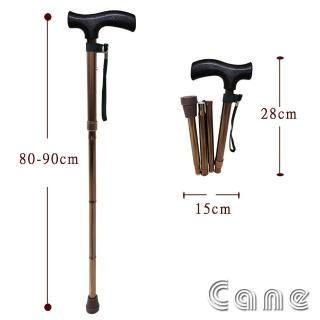 【舞動創意】仲群維醫療用手杖-未滅菌-鋁合金折疊式五段調整手杖『極輕巧女版』(GT-20061_1)
