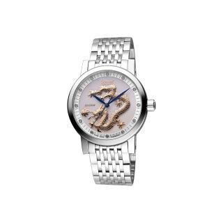 【Ogival】愛其華 遊龍戲珠限量紀念真鑽機械腕錶-珍珠貝/40mm(388.67AGS)