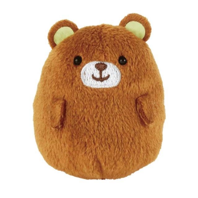 【UNIQUE】動物樂園掌心沙包小公仔(小棕熊)