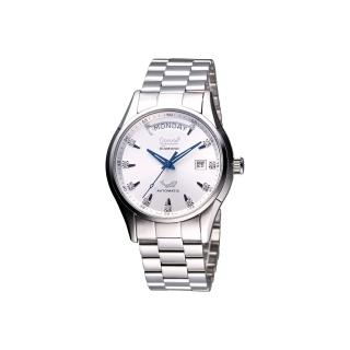 【Ogival】愛其華 風華真鑽機械錶-銀(3357AJMS銀面)