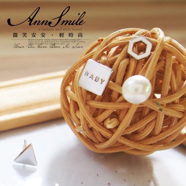 【微笑安安】正韓簡約幾何珍珠耳環(共3色)