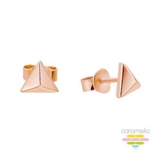 【彩糖鑽工坊】桃樂絲 Doris系列 玫瑰金耳環(925純銀鍍玫瑰金 HAG-ES02)