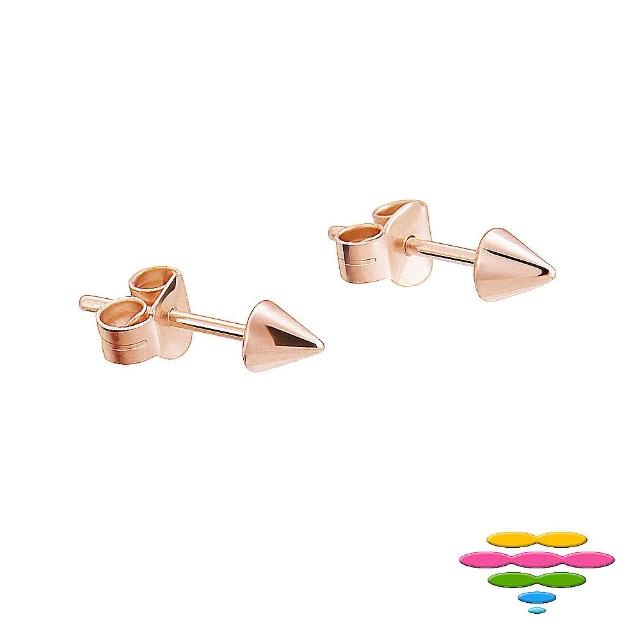 【彩糖鑽工坊】925純銀鍍玫瑰金耳環(桃樂絲 Doris系列)