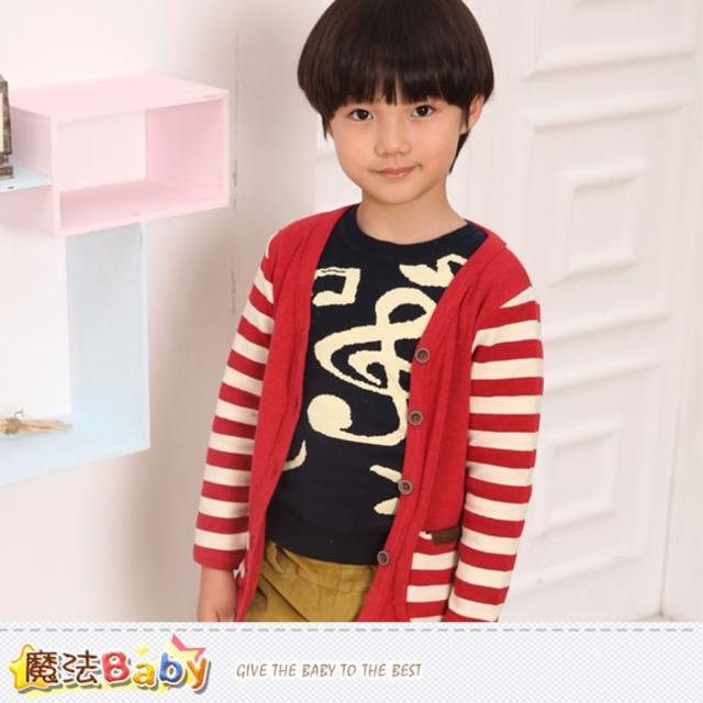 【魔法Baby】兒童針織開襟外套 專櫃品牌流行童裝(k37234)