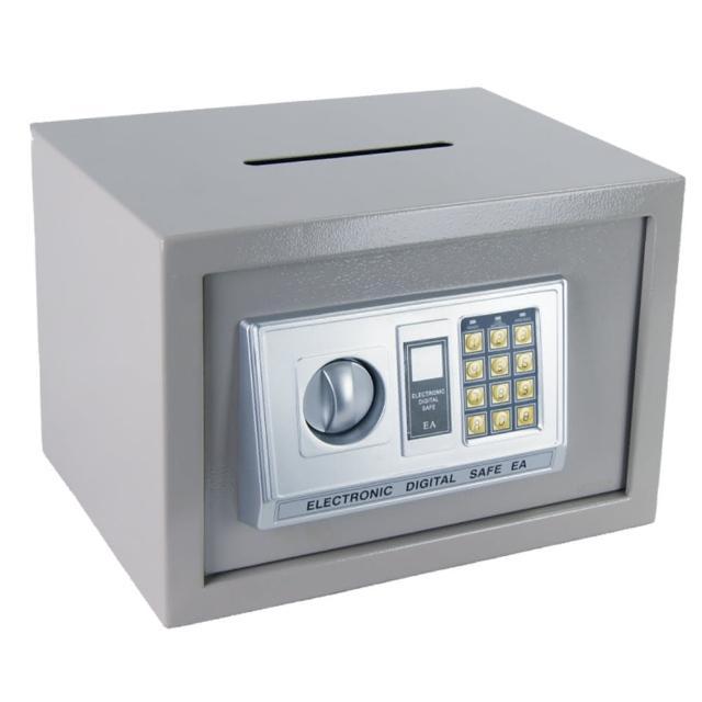 【TRENY】三鋼牙-電子式投入型保險箱-中 HD-4434(升級為3實心鋼柱-促銷)