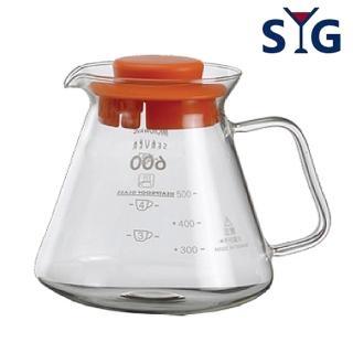 【SYG】精緻耐熱花茶咖啡壺BHG605R(紅蓋)