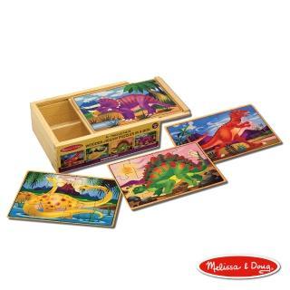 【美國瑪莉莎 Melissa & Doug】盒中木製拼圖 - 恐龍