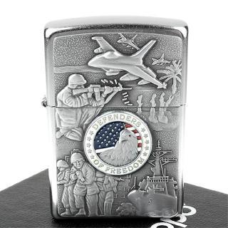 【ZIPPO】美系-Joined Forces-陸海空聯合捍衛自由圖案設計打火機