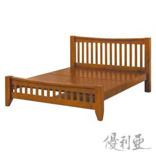 【優利亞-瑪吉斯】加大6尺實木床架