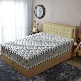 【睡芝寶】正四線竹碳抗菌除臭防潑水-護邊-蜂巢獨立筒床墊(雙人加大6尺)