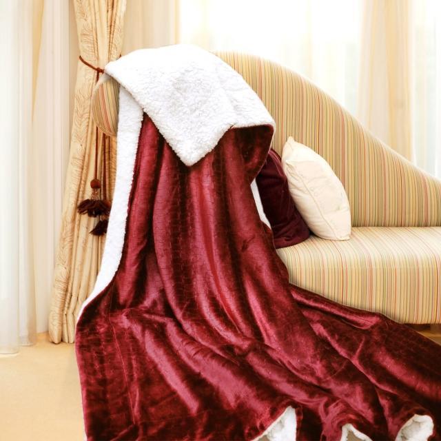【義大利Fancy Belle】《艾菲爾-紅》雪尼絨毯150*180CM