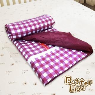 【奶油獅】格紋系列-台灣製造-100%精梳純棉雙面薄被套(單人 三色可選)
