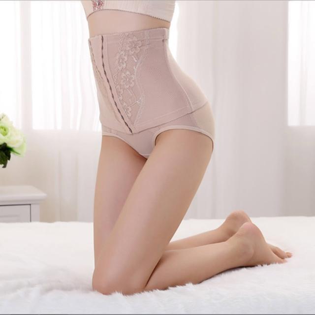 【韓依 HANN.E】420丹-高腰加強版重機能束腹腰夾(3段-蕾絲板2015年款超值-PJ5008-膚)