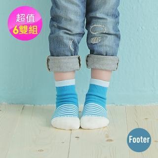 【Footer除臭襪】Baby止滑除臭襪6雙入 童款(T84七色任選)