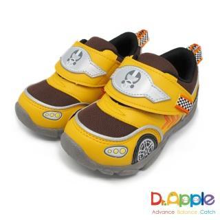 【Dr. Apple 機能童鞋】速度奔馳鮮色超跑童鞋(黃)