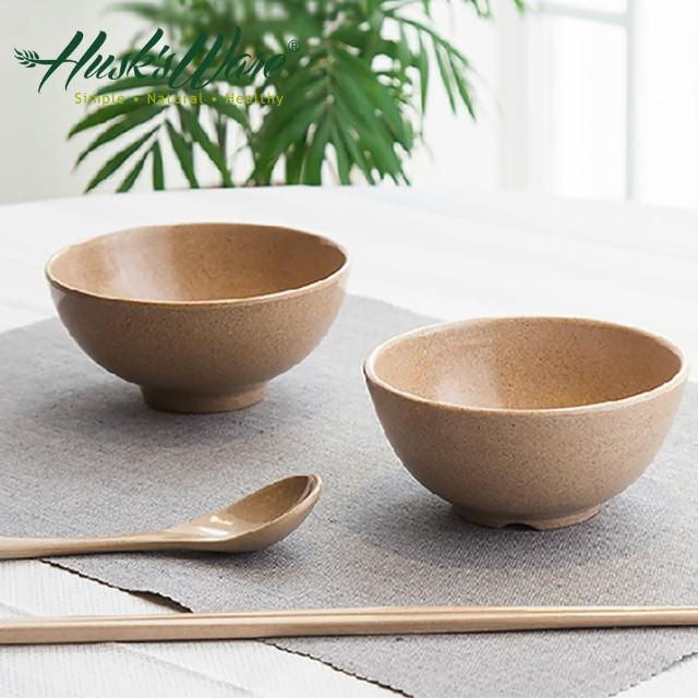 【美國Husk's ware】稻殼天然無毒環保餐碗筷組(6碗6筷)