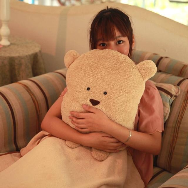【Bunny】多功能四合一抱枕靠墊保暖毯
