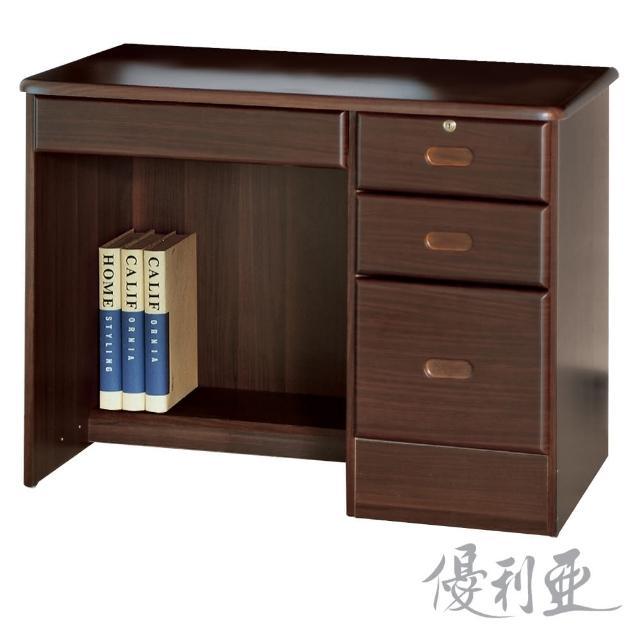 【優利亞-路克胡桃色】3.5尺書桌(下座)