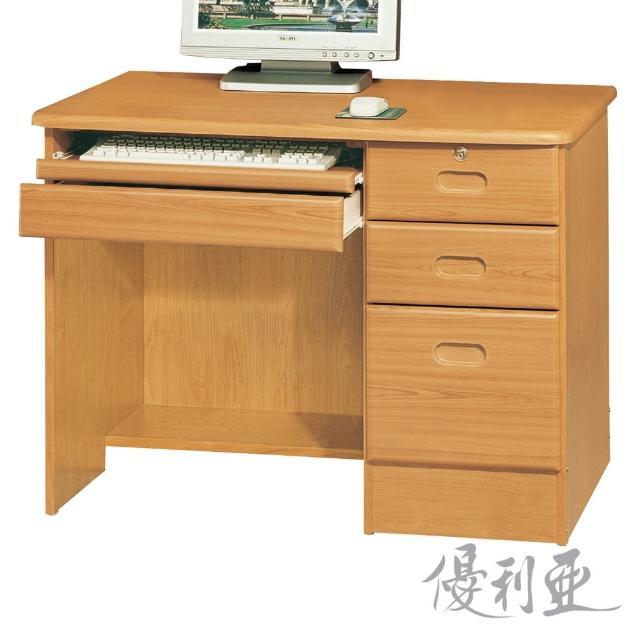 【優利亞-瑪麗赤陽色】3.5尺電腦書桌(下座)