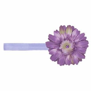 【美國Jamie Rae】女童/女寶寶 100純棉髮帶 薰衣草細髮帶+薰衣草紫雛菊(JRFBD01)